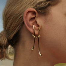 RUIYI Real 925 Sterling Silver 18K Gold Geometric Earring Cl