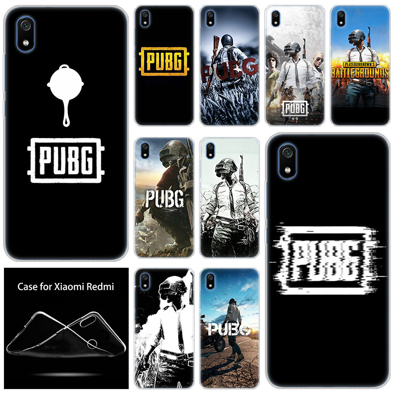 luxury Hot Soft Silicone Case Game pubg for Xiaomi Redmi 7 7A GO S2 4X 5 5Plus 6 6A K20 Note 4 5A 6 7 8 Pro Fashion Cover image