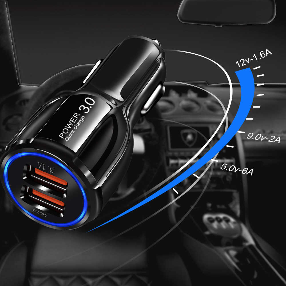 Suhach Car Charger Quick Charge 3.0 For iPhone Samsung Xiaomi Fast Car Charging Adapter QC 3.0 QC3.0 Mobile Phone Charger