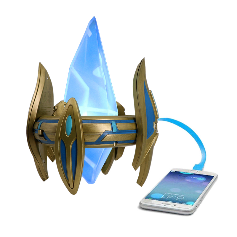 Protoss Pylon USB-Charger Star Craft 2-Ports Table-Adapter Desktop Lamp Power Station Blizzcon Mobile Phone Chargers