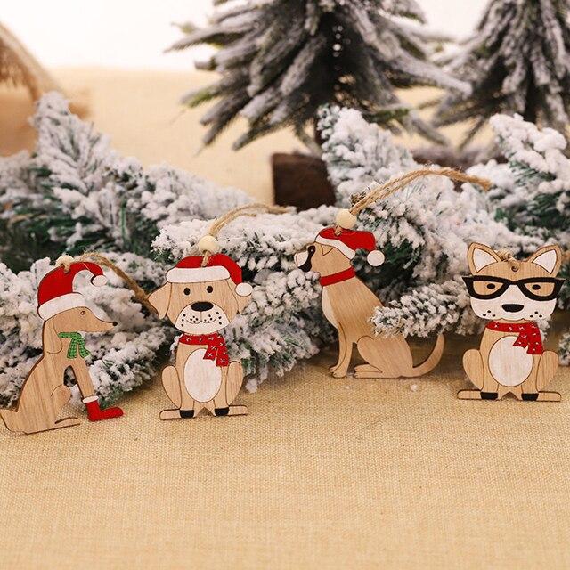 Dog Christmas Tree Pendant Home 3