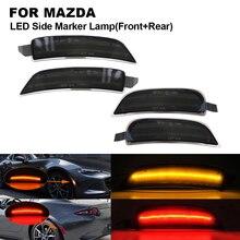 цена на 4PCS Smoked LED Car Side Marker Light Lamp For MAZD Miata Mx-5 2016-2018,2X Front Side marker(Amber)+2X Rear Side marker(Red)