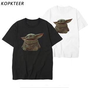 Lovely Baby Yoda Mandalorian T Shirt Men/women Movie T-shirt Streetwear Tshirt Male/female Top Tee Trend Fans Apparel(China)