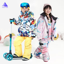 Skiing-Suits Snowboard Hooded Ski-Sets Waterproof Kids Winter Warm Outdoor Gilrs