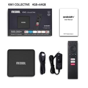 Image 5 - Mecool Tv Box KM1 Andriod10 4G 64GAmlogic S905X3 ATV box tv Dual Wifi 4K Voice Google Certified Andriod tv box Youtube smart box