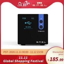 Smsl m300 dac ak4497 decodificador de alta fidelidade de áudio nativo dsd512 pcm768khz usb óptico coaxial entrada linha equilibrada saída preto azul vermelho