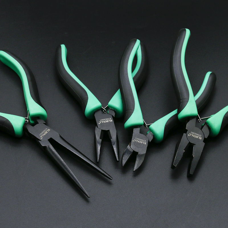 ELECALL Mini Plier Cutter Cutting Nippers Pliers Hardware Mini Tool Pliers Tweezers Clamps Multi-purpose Green