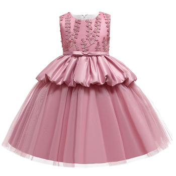 High Quality Girls Dress 2020 Fashion Princess Dress kids Party Birthday Wedding Dresses Children tutu Clothing high quality baby girl dress vest tutu party dress children princess bow flower girls dresses for party and wedding page 7