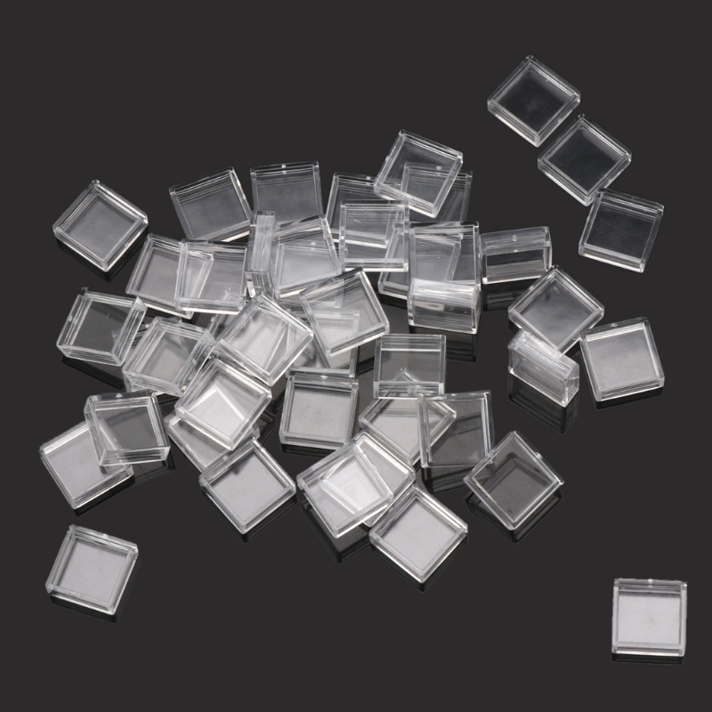100Pcs Clear Plastic Pushbutton Switch Tact Button Cap Keycaps Covers Protector