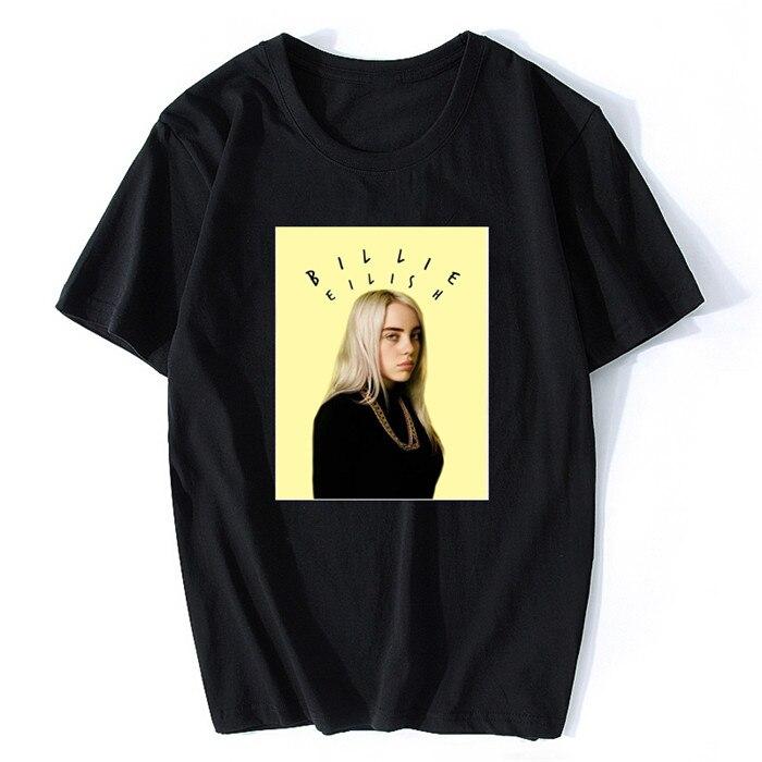 Billie Eilish Music Vintage T Shirt Cotton Short Sleeve Music T-shirts For Men/Male New Couple's XXXL Mens T Shirts