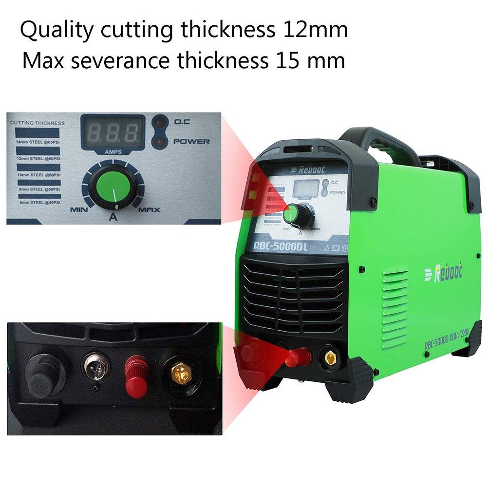 Volt CUT Plasma Cutting Plasma Cutter 220V Cutter Air IGBT 2inch Machine Arc 110 Clean 50Amp Cut Non Pilot Touch Dual 1 HF Inverter