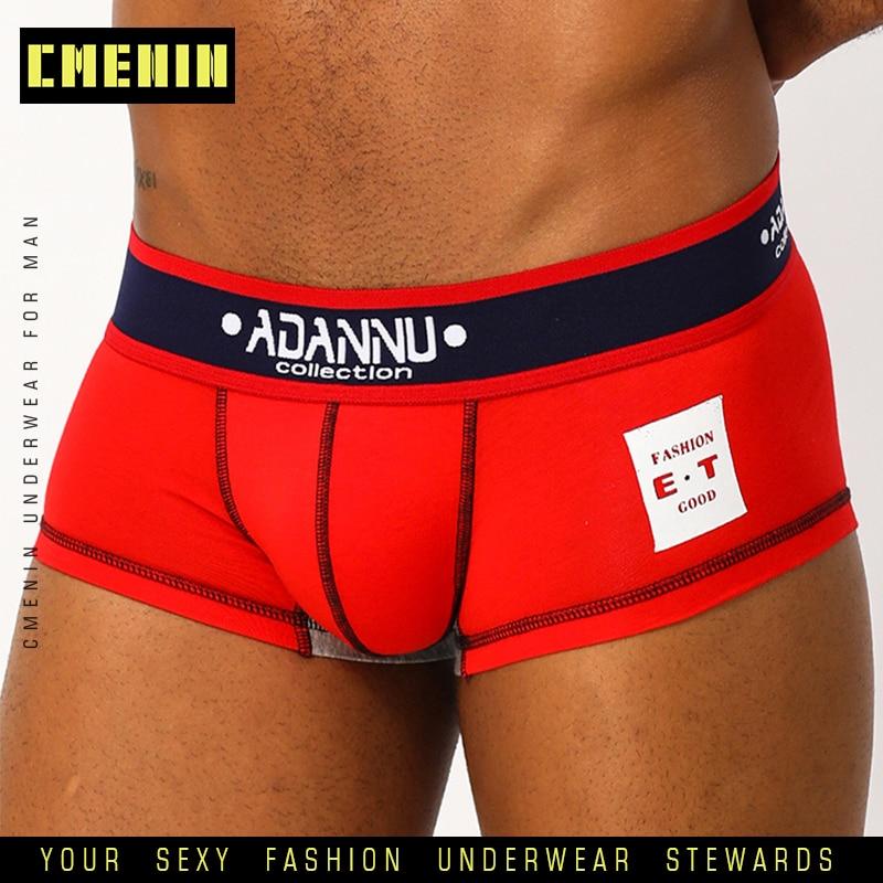 CMENIN Underwear Men Gay Sexy Underwear Men Boxer Homme Cotton  Mens Underwear Boxershorts Men Boxers Sexy Boxer Shorts AD48