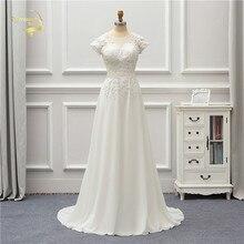 Жанна люблю шифон свадебное платье 2020 короткие аппликация кружева одеяние де Mariage JLOV75996 платья vestido Нойва Брида платья Платье