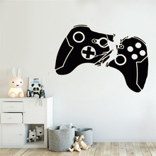 Game Handle Decal Video Game Controller Sticker Play Decal Gaming Posters Gamer Vinyl Decals Decor Mural Video Game Wall Sticker gamer wall decal eat sleep game controller video game wall sticker for bedroom vinyl decals mural wall decor wallpaper pw206