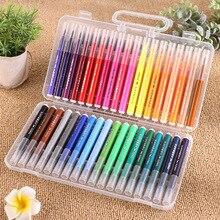 Washable Watercolor Pens Art Set Fine Tip Flexible Brush Tip Pen Markers Drawing For Children Safe Non-Toxic Colored Pen art