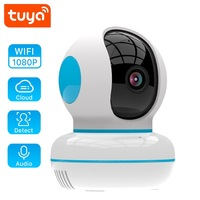 2020NEW 1080P IP Tuya kamera yeni tasarım ev güvenlik gözetleme bulut kablosuz ağ Wifi CCTV bebek izleme monitörü iki yönlü ses Gözetim Kameraları    -