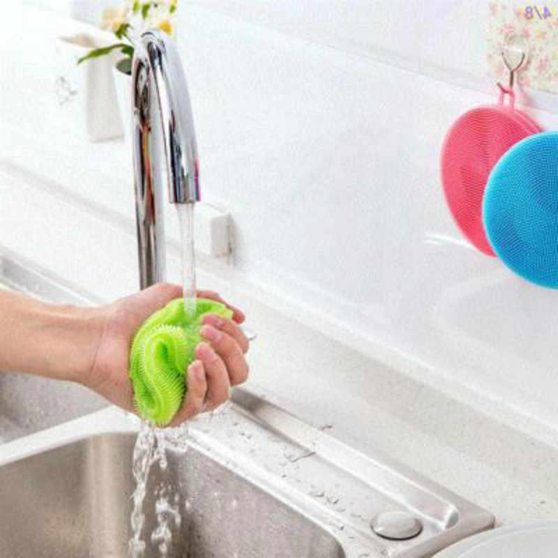 BRIDAY 1pcs Magic Cleaning Borstels Siliconen Schotel Kom Schuursponsje Pot Pan Gemakkelijk te schoon Wassen Borstel Keuken @ 1