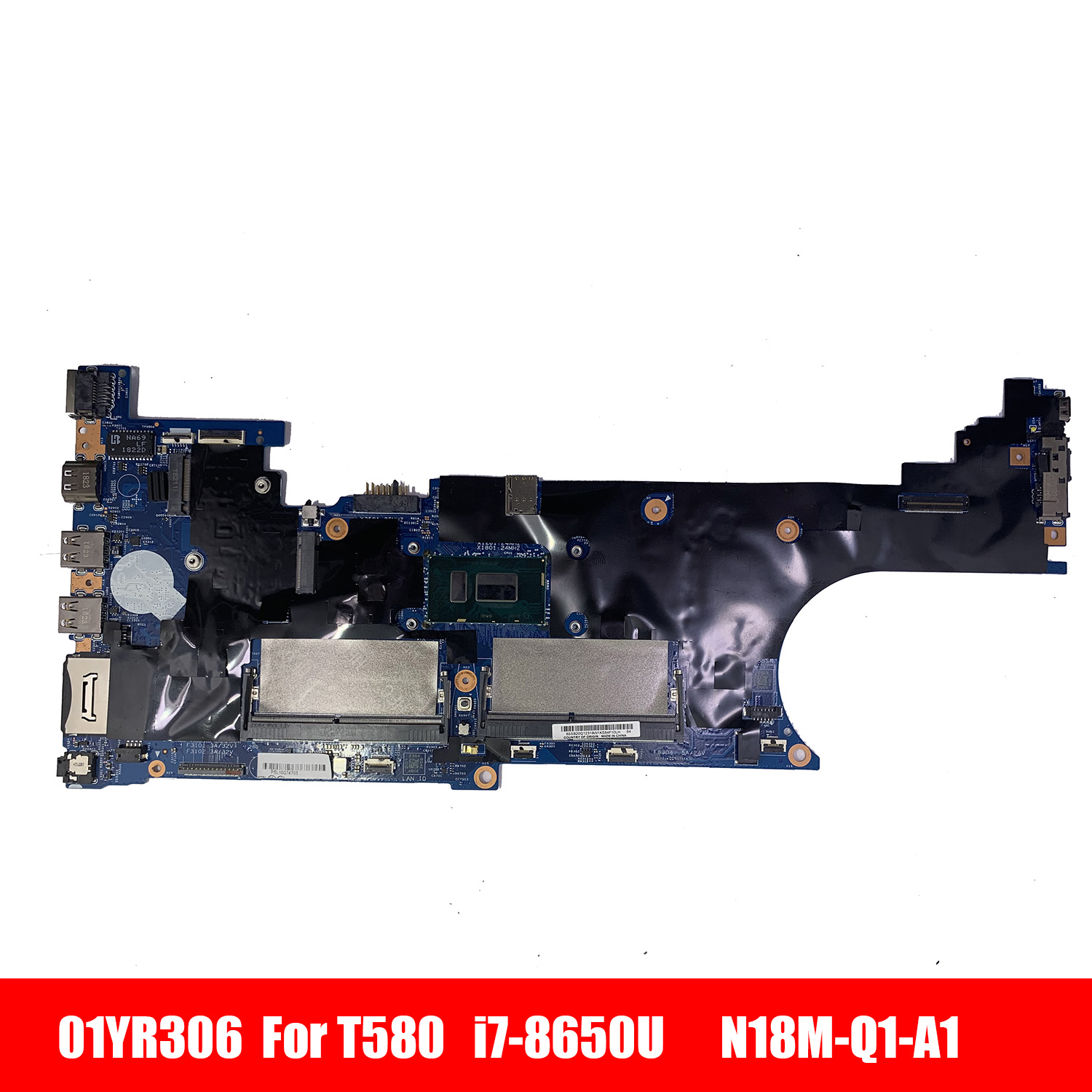 01YR306 T580 Laptop motherboard For LENOVO Thinkpad T580 P52S Core SR3L8 <font><b>i7</b></font>-<font><b>8650U</b></font> Mainboard 17812-1 01YR306 N18M-Q1-A1 image
