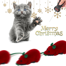 Pet Cat Christmas Interactive Toys Electronic Mouse With Wireless Remote Control Mouse Toy Electronic Play Toy Holiday Kid Gifts