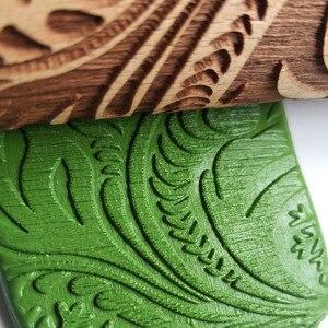Рождественская Скалка Выгравированная резная деревянная рельефная Скалка кухонный инструмент Rouleau a patisserie Rolo de massa Инструменты для выпечки A40