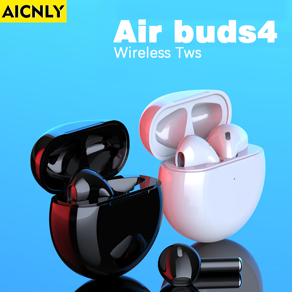 Airbuds 4  Wireless bluetooth earphones Touch Control Stereo Cordless Headset  With Charging Box Fast delivery TWS earbuds
