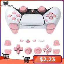 Data Kikker Volledige Set Knoppen Voor Playstation 5 Duim Sticks Reparatie Kits Handvat Cap Joystick Shell Gamepad Knop Voor PS5 console