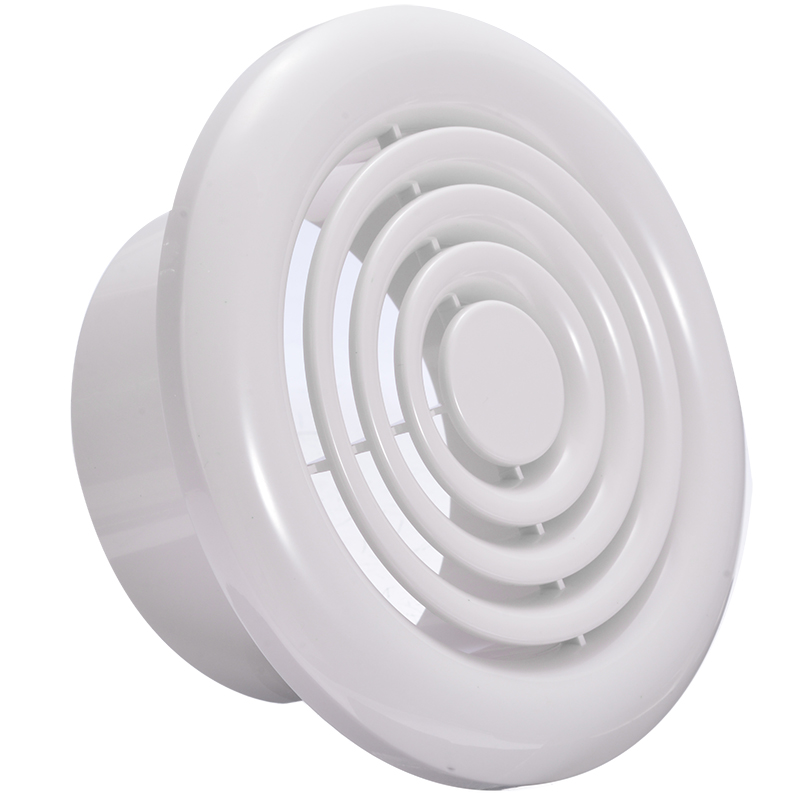 Air Ventilation Cover Round Ducting Ceiling Wall Hole ABS Air Vent Grille Louver 4