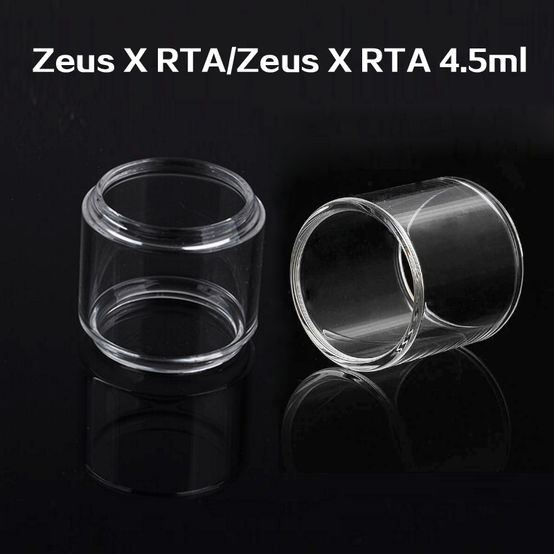 3pcs Replacement Fat Glass Tank /Straight Glass For GeekVape Zeus X RTA 4.5ml Bubble Glass Fatboy Tube
