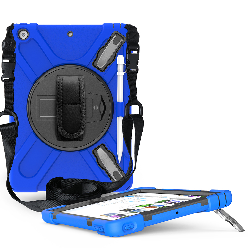 blue Blue Case for iPad 10 2 Heavy Armor Kids Shokproof Cover A2197 A2198 A2200 A2270 A2428 A2429