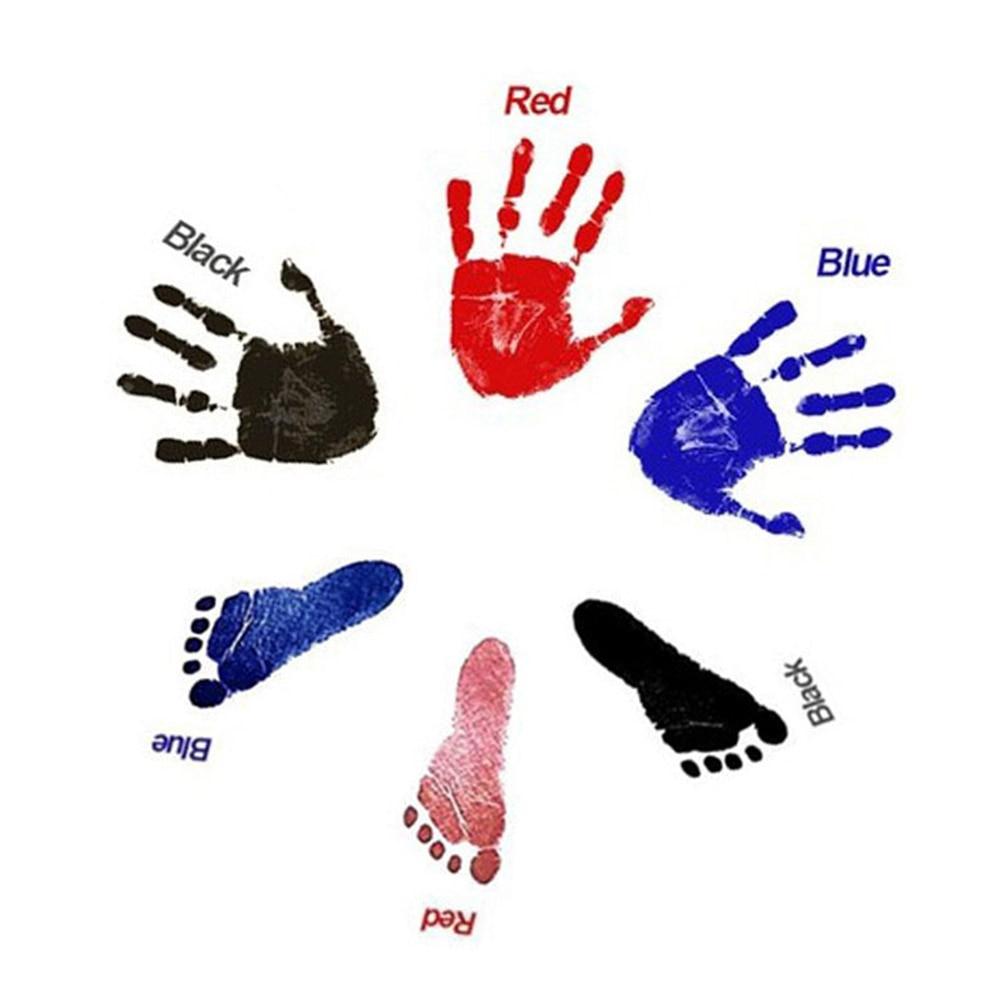 Neugeborenen Baby Footprint Ink Pad Ungiftig Handabdruck Kit Impressum Fußabdruck Baby Souvenirs Neugeborenen Baby Kissen
