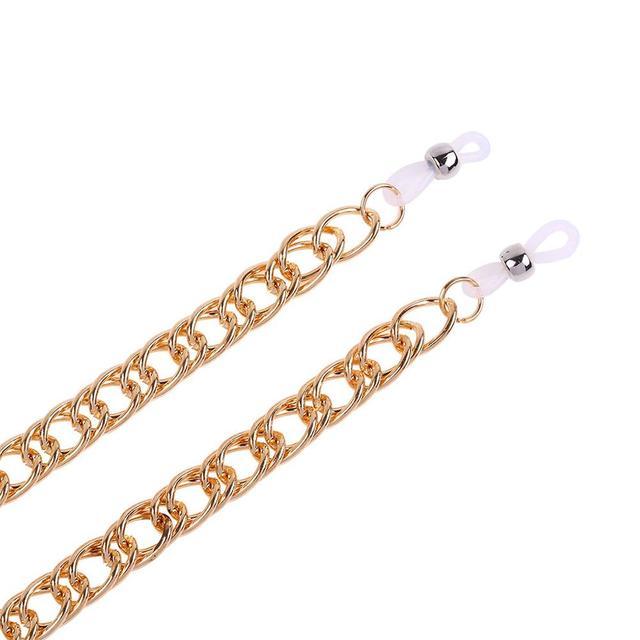 Neue Frauen Männer Gläser Kette Halter Gold Link Ring Legierung Nicht-slip Hip-hop Halskette Brillen Cord Strap seil цепочка для очков