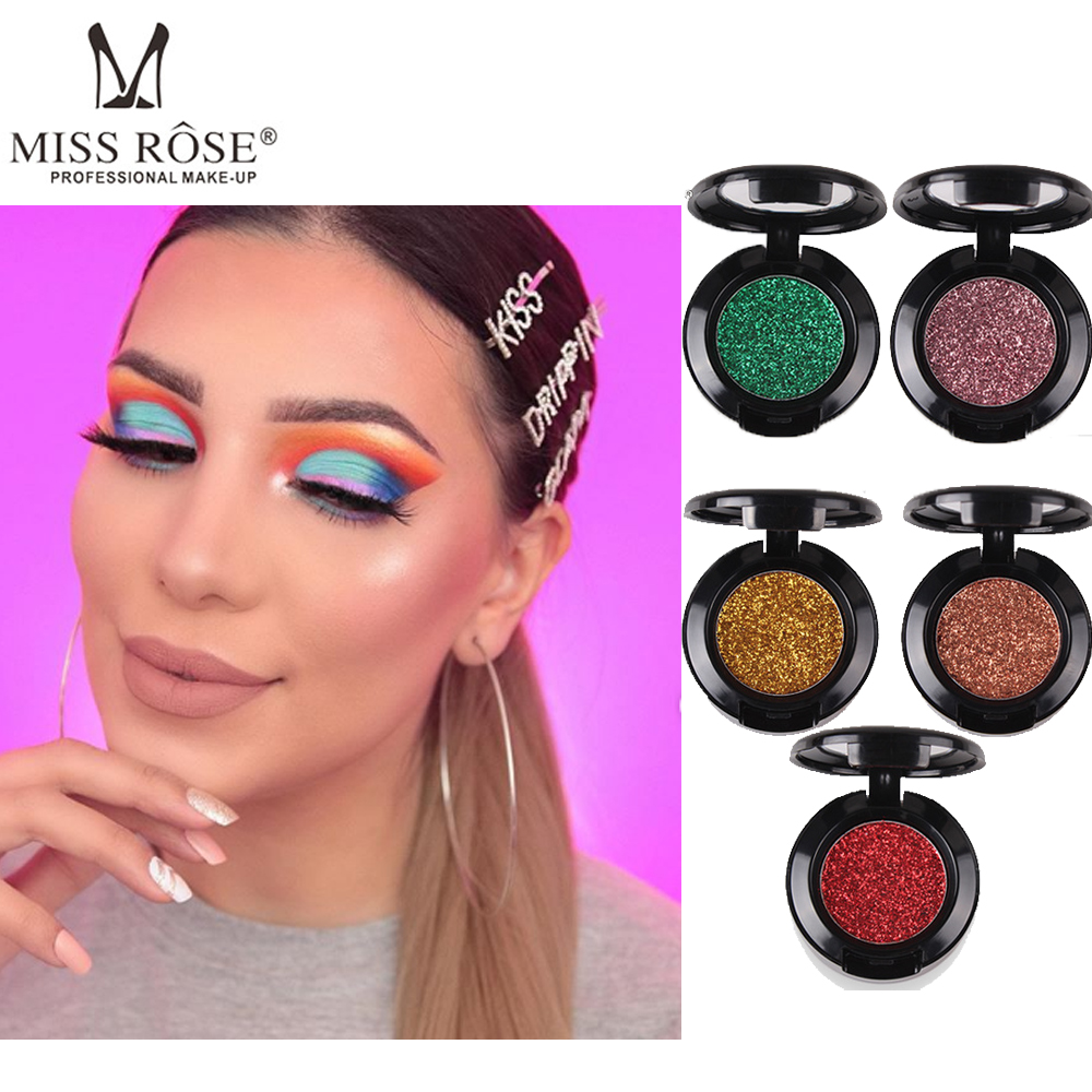 Monochrome Glitter Eye Shadow Pearl Shiny Waterproof Sweatproof Long Lasting Makeup Portable Professional Eyeshadow in Eye Shadow from Beauty Health