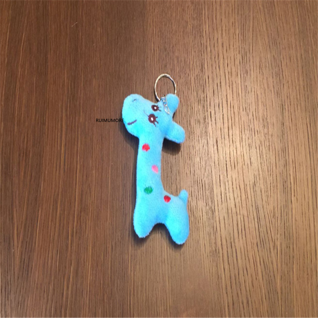stuffed giraffe toy , 8cm - 12cm plush Doll ; small keychain Pendant Toy Doll