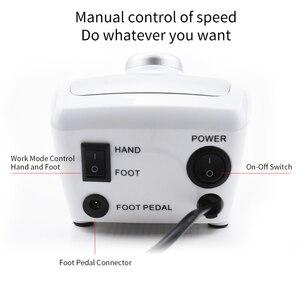 Image 3 - 35000/20000 RPM Electric Nail Drill Machine Manicure Pedicure with 6 Cutter Nail Drill bits Kit Manicure Drills & Accessories