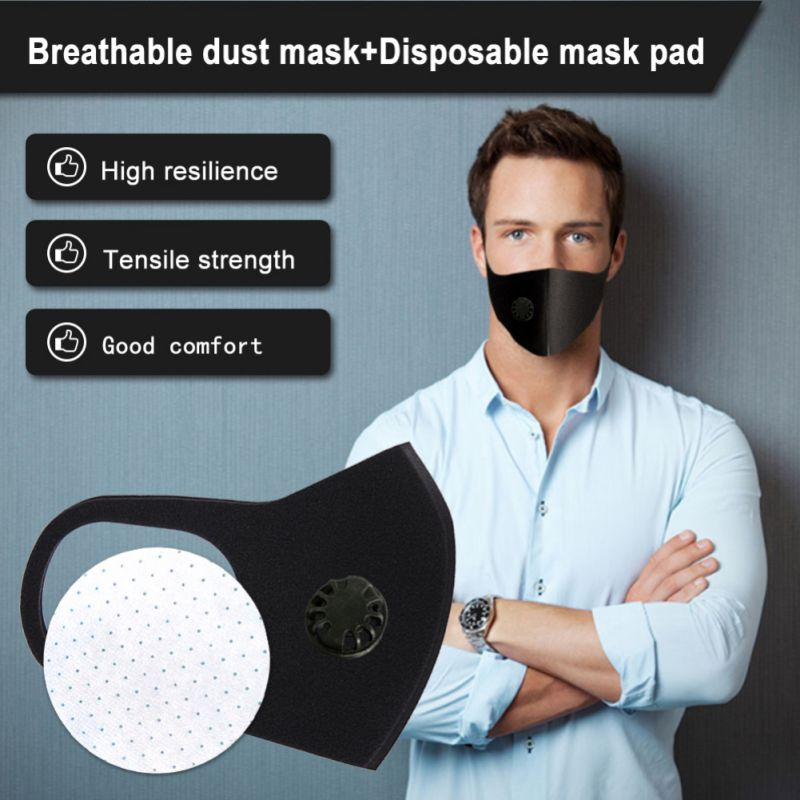 4-Layer Respiratory Dust Pm2.5 Pollen 3D Mouth Mask Upgraded Version Men Women Anti-fog Haze Dust Cropped Breathable Valve Mask
