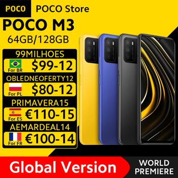 [Światowa premiera w magazynie] globalna wersja POCO M3 Smartphone Snapdragon 662 Octa Core 4GB 64GB 128GB 6 53 #8222 wyświetlacz 6000mAh bateria tanie i dobre opinie Nie odpinany CN (pochodzenie) Android Zamontowane z boku 48MP Szybkie ładowanie 3 0 english Rosyjski Niemiecki French Spanish