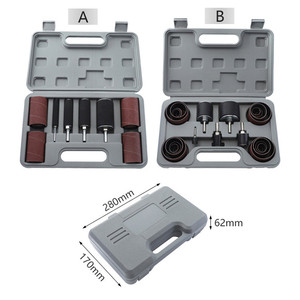 Image 1 - Drum Sander Dremel Kit Sanding Belt Grit 80 120 Sandpaper Long Short with Spindle Case for Drill Press Rotary Tools
