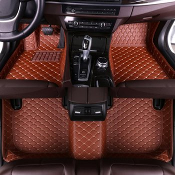 Custom Flash Mat 5 Seats Car Accessories Leather Full Cover Foot Pads Floor Mats for BMW F25 F31 F40 F01 F34 All Models Carpet image