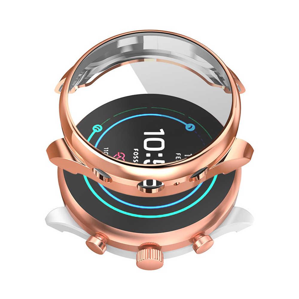 رقيقة جدا المضادة للخدش بالكهرباء علبة ساعة من البولي يوريثان غطاء كامل واقي للشاشة علبة ساعة ل فوسيل الرياضة ساعة ذكية 41 مللي متر