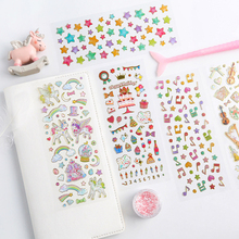 1pcs/lot Cartoon Cherry Cake Hot Stamping Tansparent Diary Sticker Scrapbook Decoration Stationery Stickers
