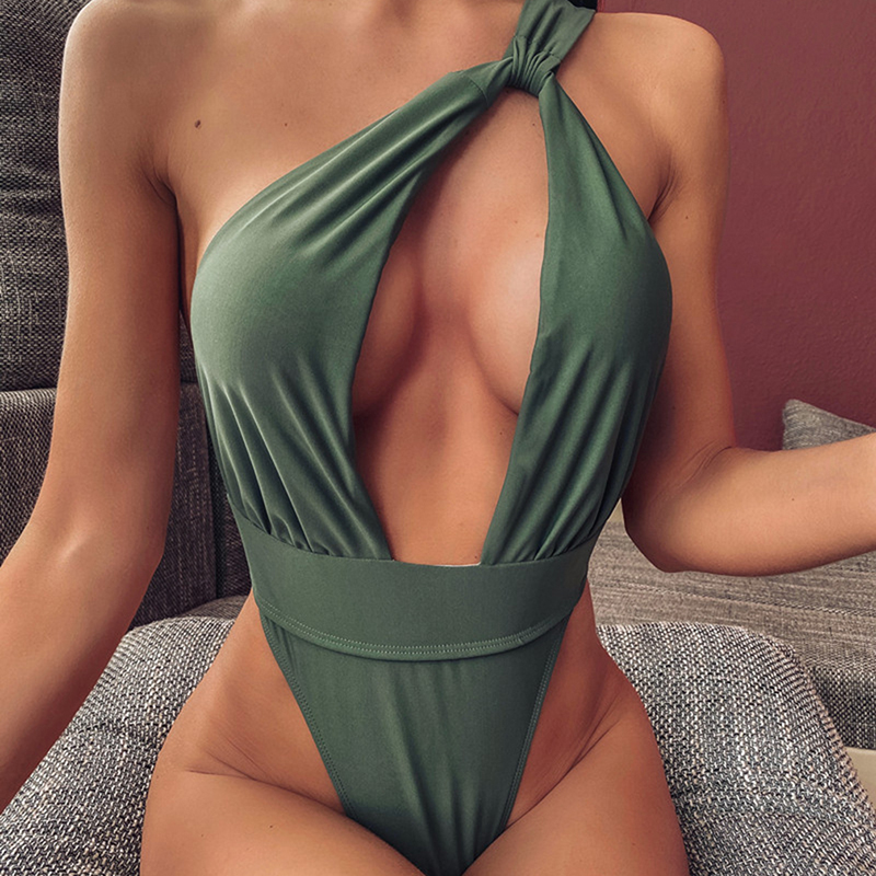 New Fasion Women Sexy Deep V-Neck Lace Halter See Through Floral Sleeveless Bodysuit Lady Sexy Female Hot Sexy Summer