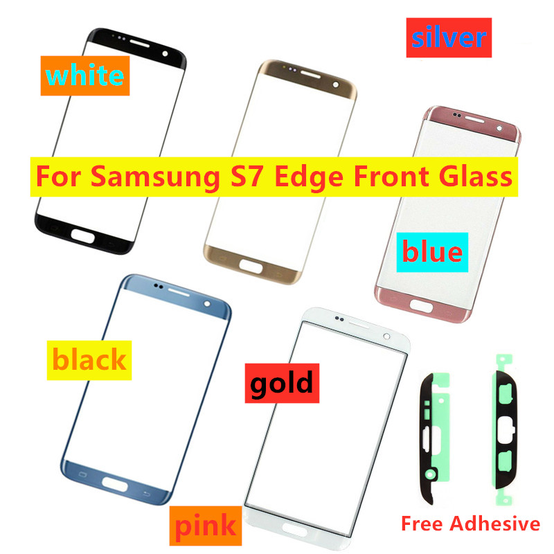 Touch Screen Front Glass For Samsung Galaxy S7 Edge G935 G935F LCD Display  External Glass Replacement Free Adhesive