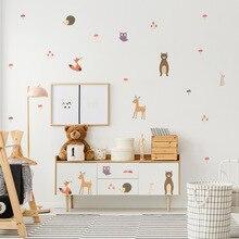 Funlife Carton Wall Sticker,Cute Animal Wall Decal For Kid's Room Kindergarten Baby Nursery Bedroom Home Decor,Waterproof Remove