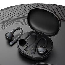 TWS słuchawki bezprzewodowe bluetooth 5.0 douszne silikonowe miękkie radio hifi zestaw słuchawkowy dla aktywnych z etui z funkcją ładowania T7 Pro na telefon