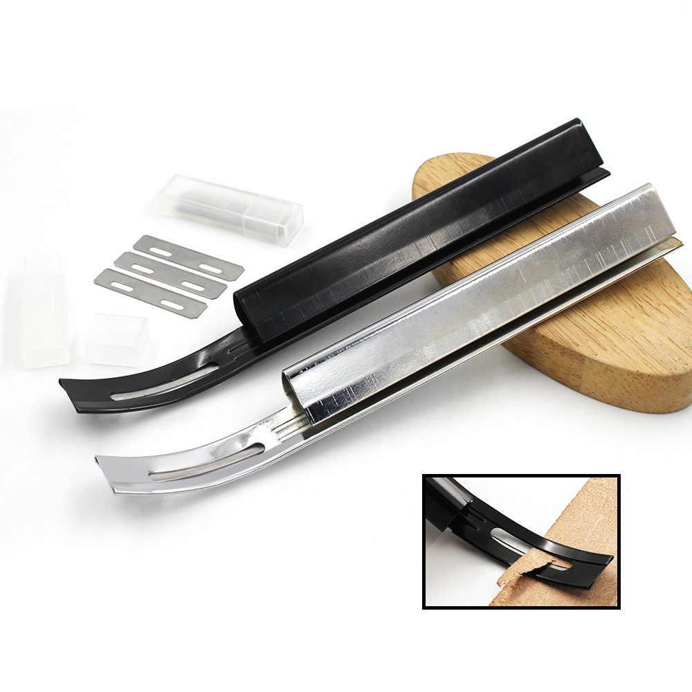 Keskin deri Skiving bıçak araçları DIY deri zanaat güvenlik kesme bıçağı kesme ince bıçaklar siper inceltme Pro heykel bıçağı