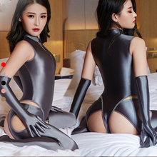 Drozeno Глянцевая шелковистая ткань супер сексуальный комплект