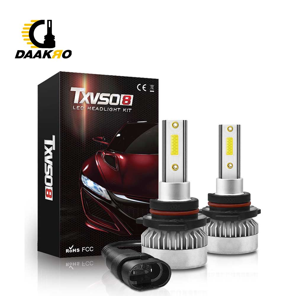 6000K Super Bright Car LED Headlight Lamp H1 H7H8 H9 H10 9012 9005 9006 Light Bulbs Conversion Kit 110W 20000LM HID Dropshipping