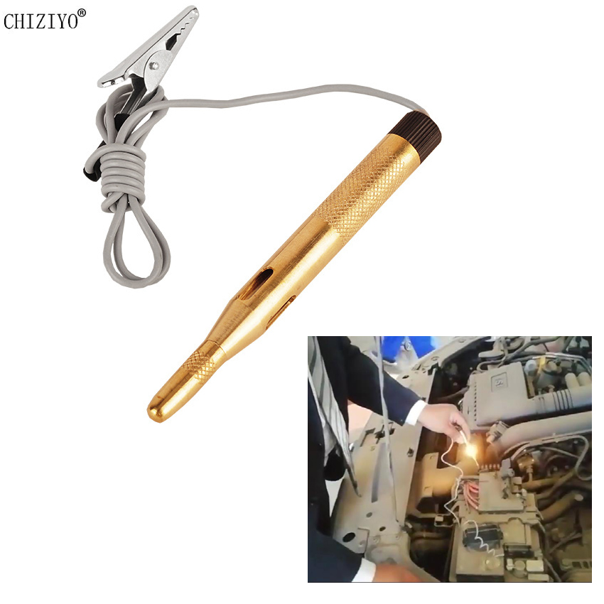Pure Copper Test Pen DC 6V 12V 24V Auto Car Light Circuit Tester Lamp Voltage Detector System Diagnostic Tools CHIZIYO