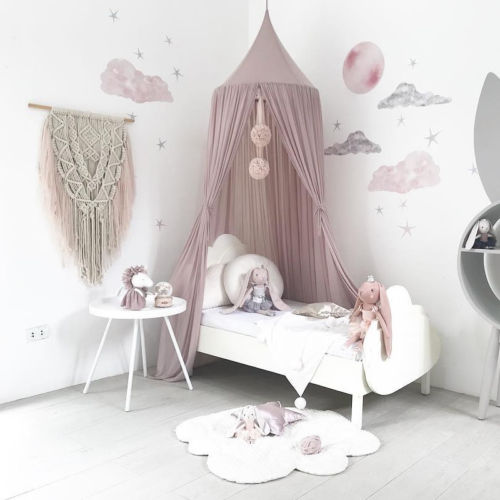 Kids Baby Bed Canopy Bedcover Mosquito Net Princess Curtain Bedding Dome Tent