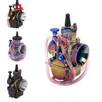 Racing Moto Universal Bunte Roller Vergaser 21 24 26 28 30 32 34 36 38 40 42 mm Carburador Für keihin PWK Mit Power Jet